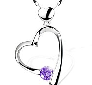 925 Sterling Silver Heart Interlocking Necklace With Seeds Necklace