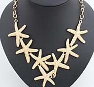 European Starfish  Alloy Statement Necklaces(Gold,Silver) (1 Pc)