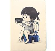 jugar con el teléfono del modelo de cuero de la PU caso de cuerpo completo para Mini iPad 1/2/3