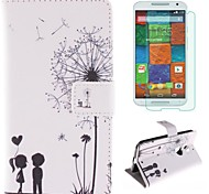 Couples Dandelion Pattern PU Leather Full Body Case  for Motorola MOTO X