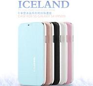 promotion six glace étuis en cuir série de cristaux de téléphone pour samsung i9500 de la (couleurs assorties)
