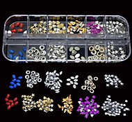 12 Styles Mix Nail Studs DIY Nail Art Decoration