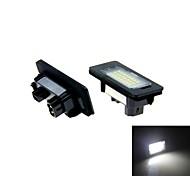 2X White Error Free Led License Plate Light For  E82 E88 E90 E90N E91 E92 E93 M3 E46 CSL E60 E60N E61 E61 E70 E71