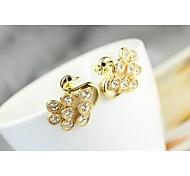 Love Is Your Little Swan Stud Earrings