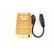 Personality Gold Wind USB Charging Electric Pulse Arc Lighter Electrons