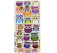 Yellow Background Owls Pattern TPU Soft Case for Samsung Galaxy A3/A3000