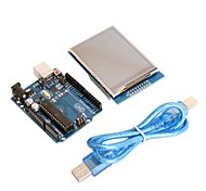 "UNO R3 Board Module + 2.8"" TFT LCD Touch Shield Display Module for Arduino"