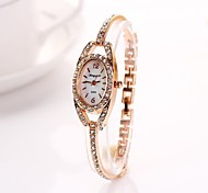 Women's   Golden  Ellipse Diamante Dial Diamnete   Alloy Quartz Wristwatches  C&d223 Cool Watches Unique Watches Fashion Watch