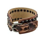 2014 Hot Sale Punk Style Coffee Spike PU Leather Bracelet