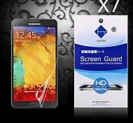 Protector de pantalla de alta definición con polvo absorbente para Samsung Galaxy Note 3 (7 piezas)