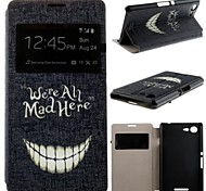 Crazy Teeth Pattern PU Leather Full Body Case with Card Slot for Sony Xperia E3 D2203 D2206