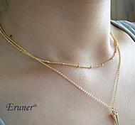 Eruner® Fashion Double Chain Alloy Pendant Necklace