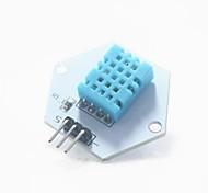 módulo de teste de medição digital de temperatura / humidade para arduino - branco + azul
