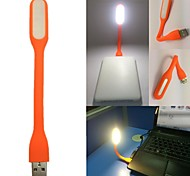 Orange Portable USB LED Light Bendable Mini Lamp