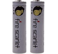 Fire Scarlet 6000mAh 18650 Rechargeable Lithium Ion Battery (2pcs)