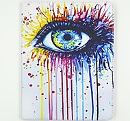 eye pattern pu custodia in pelle con il basamento e la carta slot per ipad 2/3/4