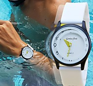 Men's Sports Watch Fashion 30M Waterproof Diving Wrist Watch Soft Silicone Band Military Watch (Assorted Colors)