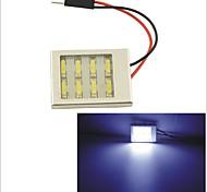 carking ™ T10 / feston 7014-8smd voiture conduit rome lampe lumière blanche (12v / pièce)