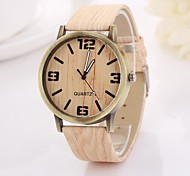 Women's Arabic Numerals  and Arrow  Digital Round Table Pure Color Teak Strap  Watch C&D-355