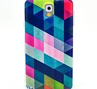 patrón de la caja de color TPU suave para Samsung Galaxy Note 3