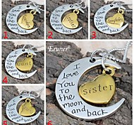 "Eruner® 2015 Valentine's Day "" I Love You To The Moon and Back"" Pendant Necklace Women Girl Gift"