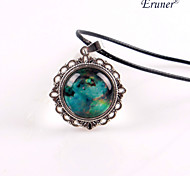 Eruner®Handmade Glass Dome Cabochon Lacework Pendant, Bib necklace, Colorful Nebula