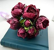 """nuovi fiori decorativi vino bianco rosa peonia artificiale mazzo 6,30 """"per la decorazione di nozze"""
