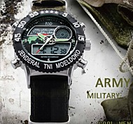 Men's Canvas Strap Analog Digital 5M Waterproof Sport Army Military Wrist Watches (Assorted Colors)