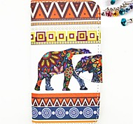 Elephant Pattern PU Leather Full Body Case with Card Slot And Stand  And Stand And Dustproof Plug for Motorola G2