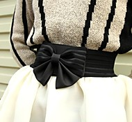 grande cinta elástica bowknot preto das mulheres