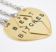 Golden / Silver Pendant Necklaces Daily / Casual Jewelry Best Biches