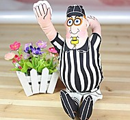 Lovely Whistle Man Shaped Canvas Squeaking Chewing Toys for Pet Dogs