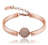 Exquisite Fashion Ms Crystal Ball Plating 18K Rose Gold Bracelet