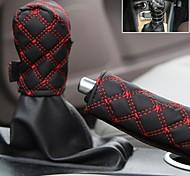 Claretred Car Handbrake Cover Car Gear Set Dangba Sets Gear Sets Hand Brake Set Twinset