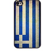 Vintage The Flag of Greece Pattern Aluminum Hard Case for iPhone 4/4S