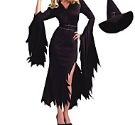 New Black Polyester Devil Cosplay Women Witch Halloween Costumes