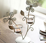 Candlestick European-style Butterfly Candle Holder for Home Decoration