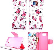 KARZEA™Beautiful Floral PU Leather TPU Back Full Body Case Painting Card Holder Wallet Case for Samsung Alpha G850F