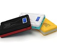 Batería externa múltiples salidas 10000mah con pantalla lcd para iphone 6.6 más / 5 / 5s / samsung s4 / s5 / Nota 2 (colores surtidos)