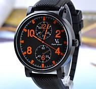Men's Fashion Luxury Casual Silicone Band Quartz Round Case Sports Military Business Watches