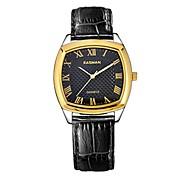EASMAN Men 's Roman Sapphire Dial Italy Genuine Leather Japan Movement Quartz Wristwatch (Assorted Colors) Cool Watch Unique Watch