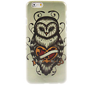 Unique Owl Design Hard Case for iPhone 6