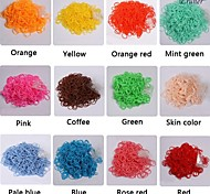 Eruner® 600PCS Rainbow Color Loom Rubber Band(1Package S Clip,Assorted Colors)