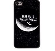 leve-me para a Terra do Nunca hard case de alumínio design para iPhone 4 / 4S