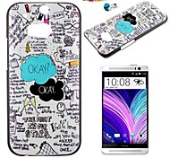 The English Alphabet Pattern PC Back Cover Case With Dustproof Plug for HTC One(M8)