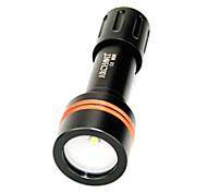 ARCHON D11V (W17V)3-Modes Cree XM-L   Diving Flashlight Torch (860-Lumen 2xCR123/1x18650 Black)