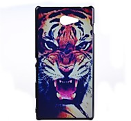 Tiger Pattern PC Hard Back Case for Sony Xperia M2 S50h