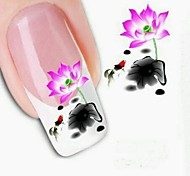 5Pcs Fashion 3D Lotus Design Nail Stickers