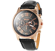 Women's Round Gold Case Roman Number Dial PU Band Analog Quartz Wrist Watch (Assorted Colors) Cool Watches Unique Watches Fashion Watch
