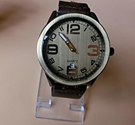 Unisex Round Dial Big Digital Leather Band Quartz Fashion Watch(Assorted Colors)